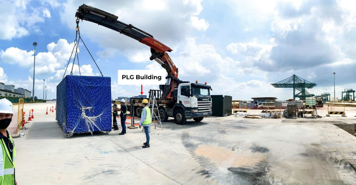 Trucking and unstuffing of  X Ray Machine for Tuas MegaPort